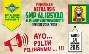 Pemilihan Ketua Osis Periode 2015 2016 Smp Al Irsyad Al Islamiyyah